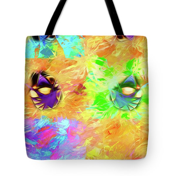 Tote Bag featuring the digital art Unmasked by John Haldane
