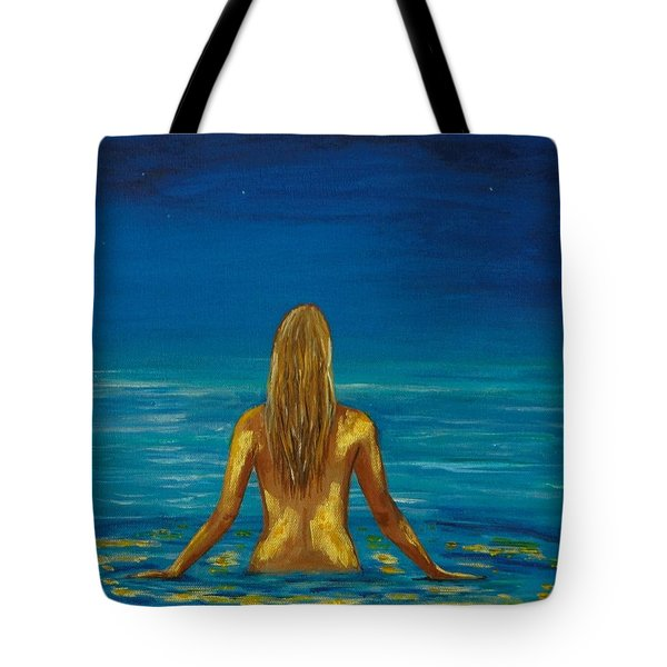 Tote Bag featuring the painting Unmasking Series 1 by Leslie Allen
