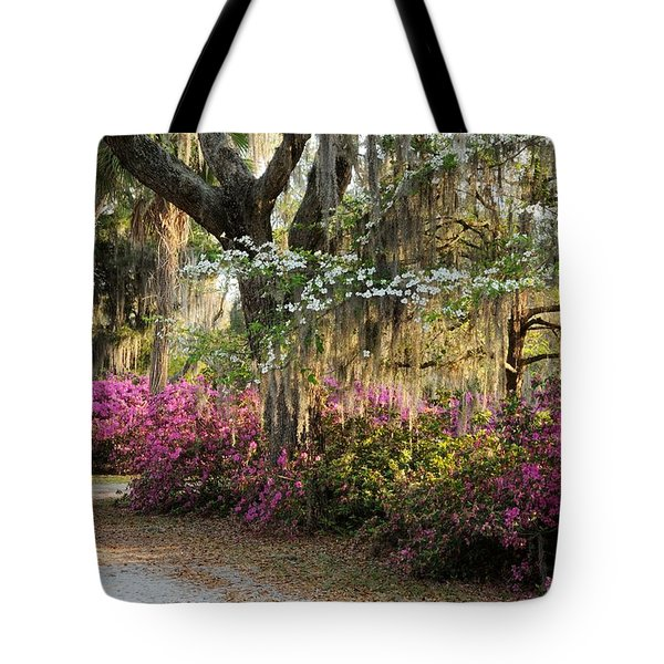 Unpaved Road In Spring Tote Bag