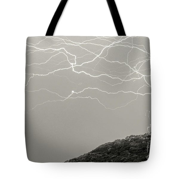 Unreal Lightning Tote Bag