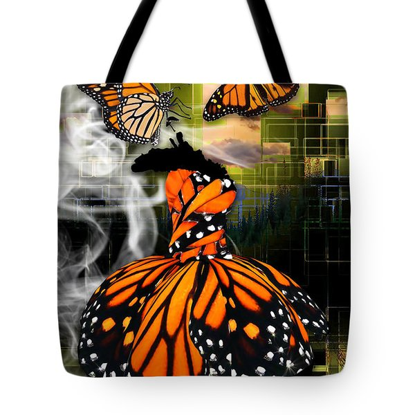Tote Bag featuring the mixed media Unrestricted by Marvin Blaine