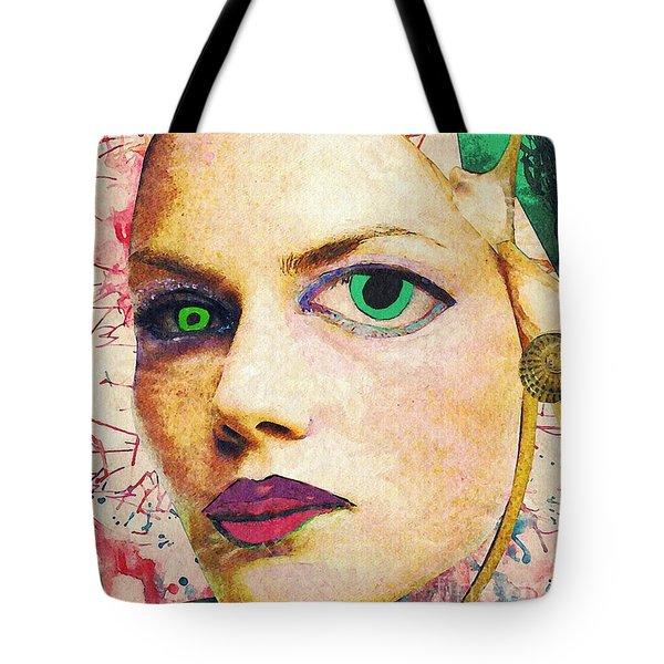 Unsettling Gaze Tote Bag by Sarah Loft