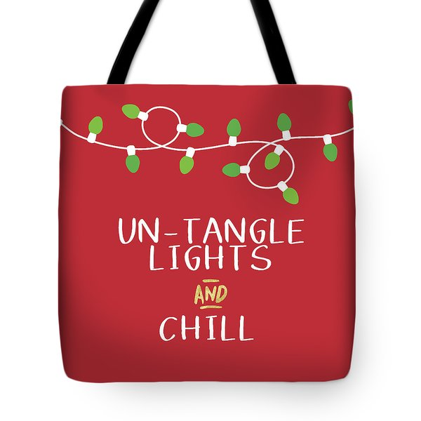 Untangle Lights And Chill- Art By Linda Woods Tote Bag