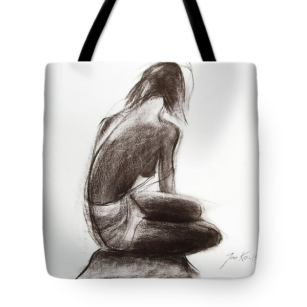 Tote Bag featuring the painting Until The Sea Shall Free Them by Jarko Aka Lui Grande