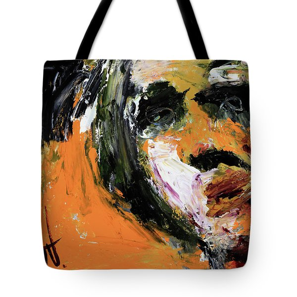 Tote Bag featuring the painting Untitled - 19nov2017 by Jim Vance