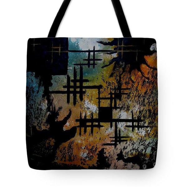 Cross Line Tote Bag
