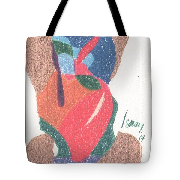 Tote Bag featuring the drawing Untitled Abstract by Rod Ismay