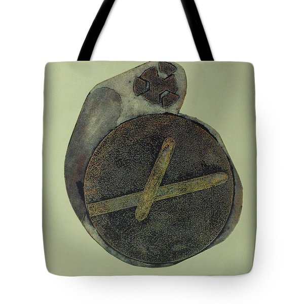 Tote Bag featuring the mixed media Untitled by Erika Chamberlin