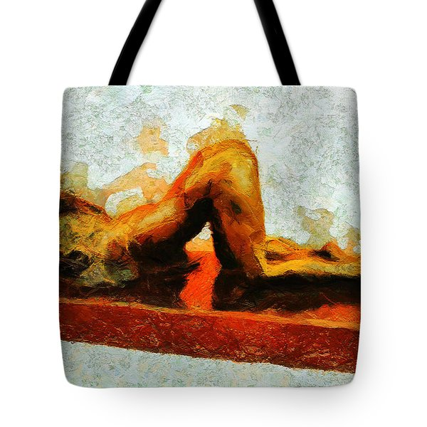 Tote Bag featuring the painting Untitled Four  by Sir Josef - Social Critic - ART