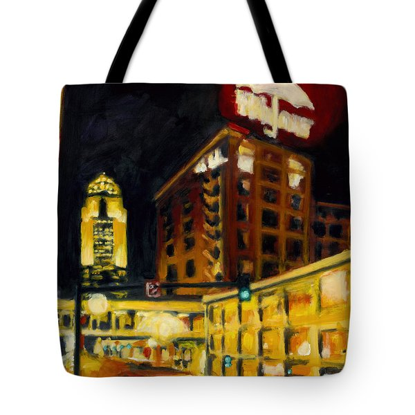 Untitled In Red And Gold Tote Bag