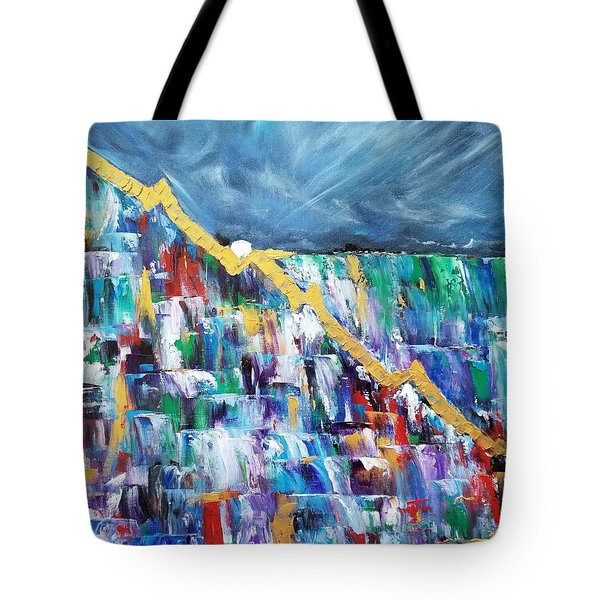 Tote Bag featuring the painting Untitled by Judith Rhue