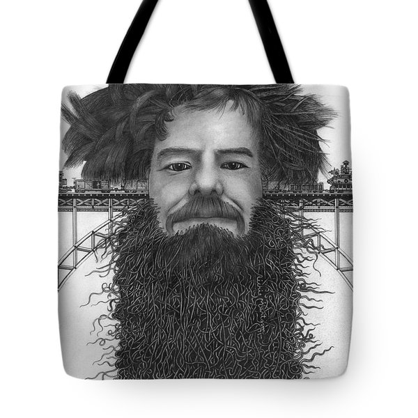 Tote Bag featuring the painting Train Of Thoughts by Richie Montgomery