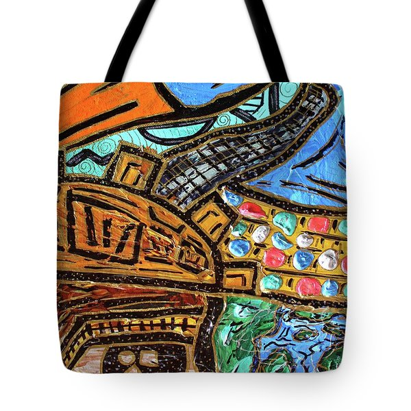 Untitled Olmec And Tehuti Tote Bag