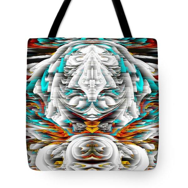 Tote Bag featuring the digital art 992.042212mirrorornategoldvert-2-c by Kris Haas