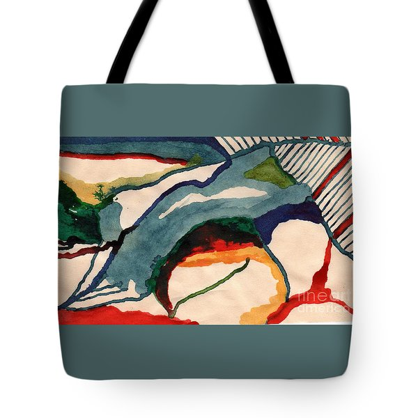 Tote Bag featuring the drawing Untitledabstract by Rod Ismay