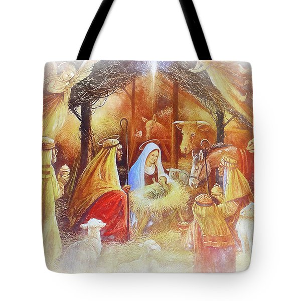 Unto Us A Savior Is Born Tote Bag