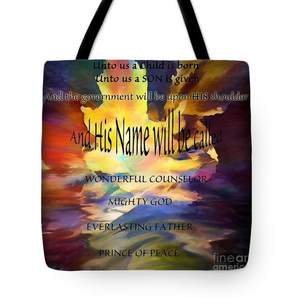 Unto Us Tote Bag