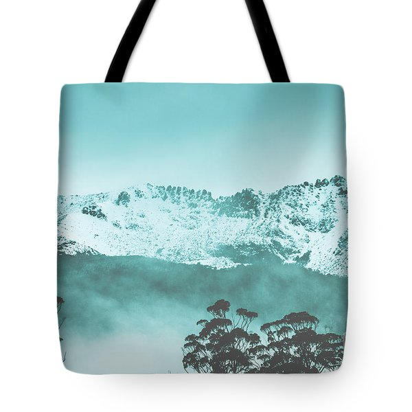 Untouched Winter Peaks Tote Bag