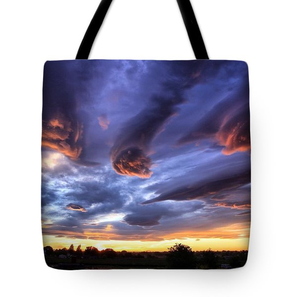 Alien Cloud Formations Tote Bag
