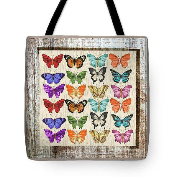 Unusual Colourful Butterfly Collage Tote Bag