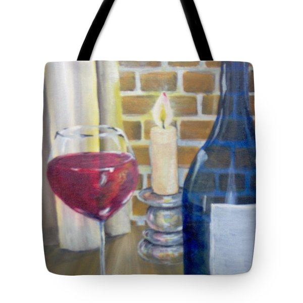 Tote Bag featuring the painting Unwind by Saundra Johnson