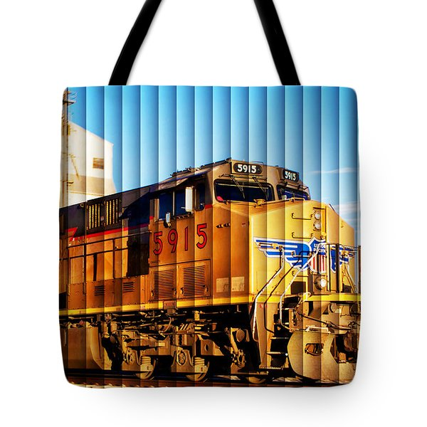 Up 5915 At Track Speed Tote Bag by Bill Kesler