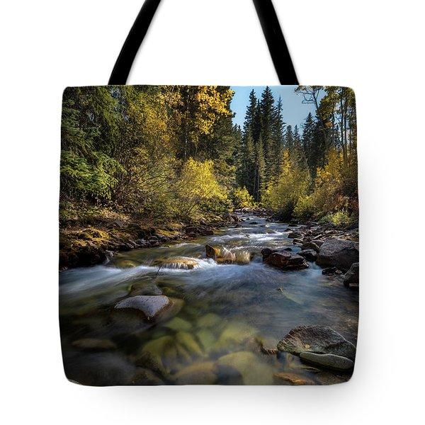Up A Colorado Creek Tote Bag