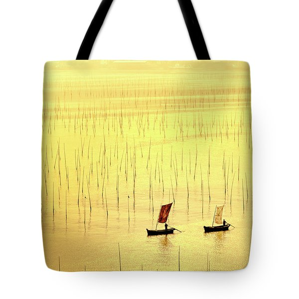 Up At Dawn. Tote Bag