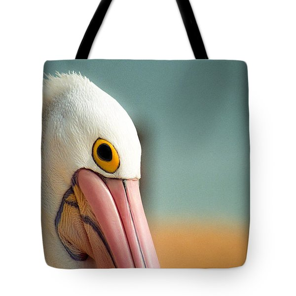 Up Close And Personal With My Pelican Friend Tote Bag