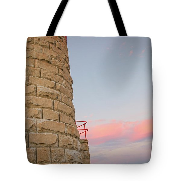 Close-up Detail Of The Cape Moreton Lighthouse Tote Bag