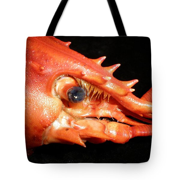 Up Close Lobster Tote Bag by Patricia Piffath