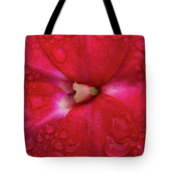 Up Close With Impatiens Tote Bag