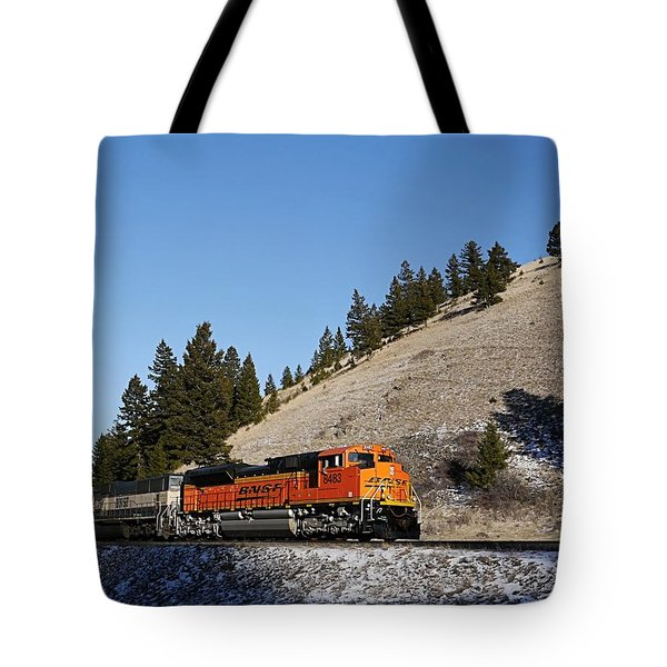 Up Hill And Into The Sun Tote Bag