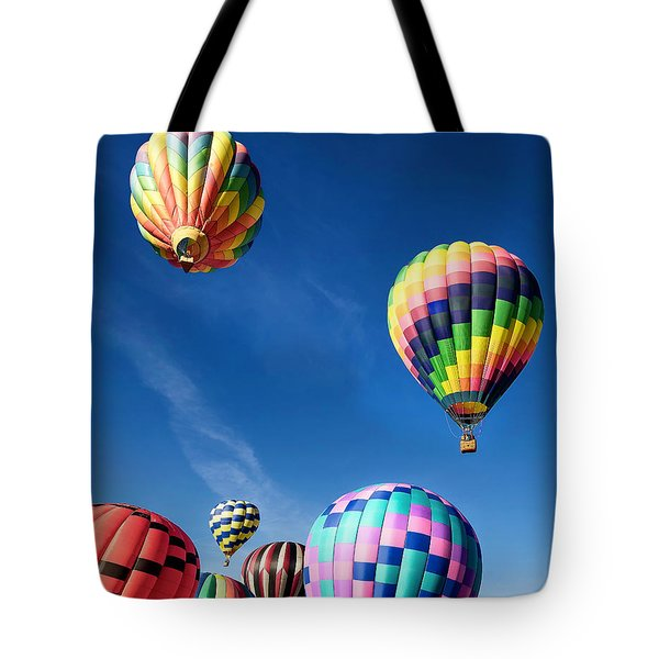 Tote Bag featuring the photograph Up In A Hot Air Balloon 2 by James Sage