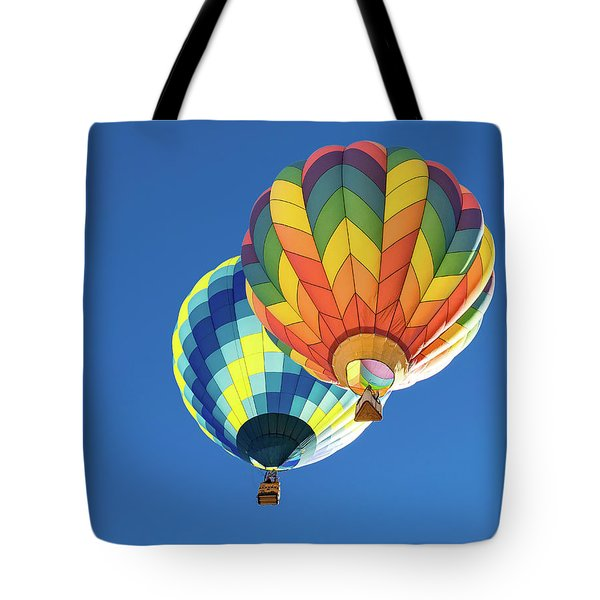 Tote Bag featuring the photograph Up In A Hot Air Balloon by James Sage