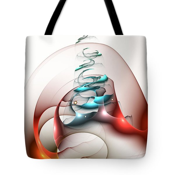 Tote Bag featuring the digital art Up In The Air  by Anastasiya Malakhova