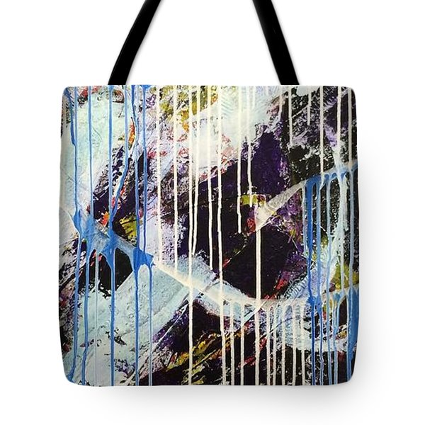 Tote Bag featuring the painting Up In The Air by Sheila Mcdonald