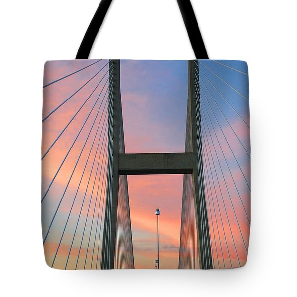 Up On The Bridge Tote Bag
