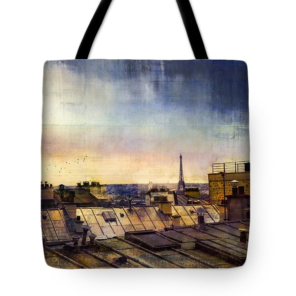 Tote Bag featuring the photograph Up On The Roof by John Rivera
