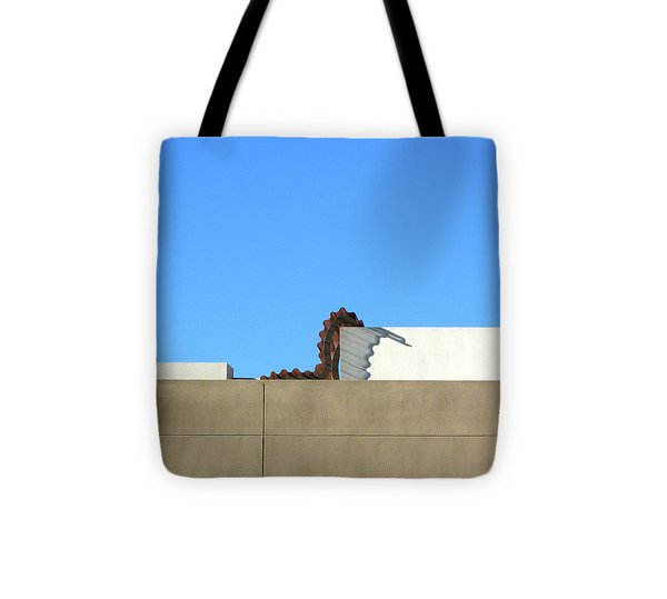 Up On The Roof Tote Bag by Lin Haring