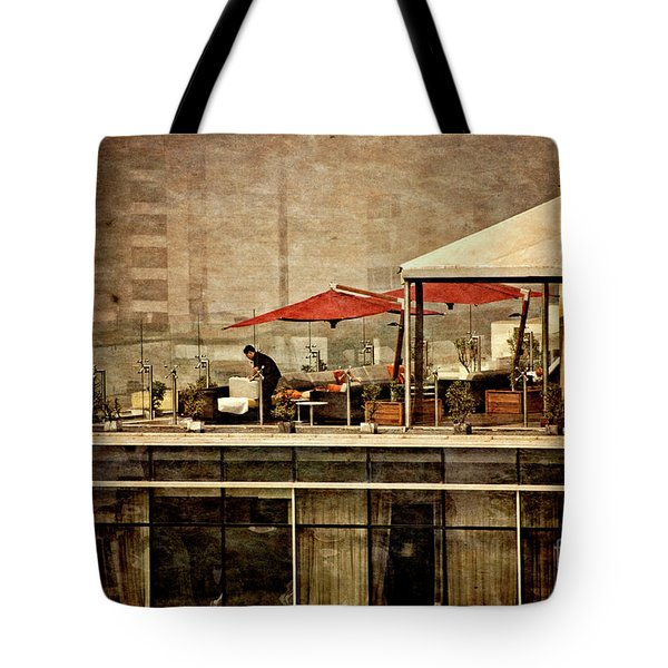 Tote Bag featuring the photograph Up On The Roof - Miraflores Peru by Mary Machare