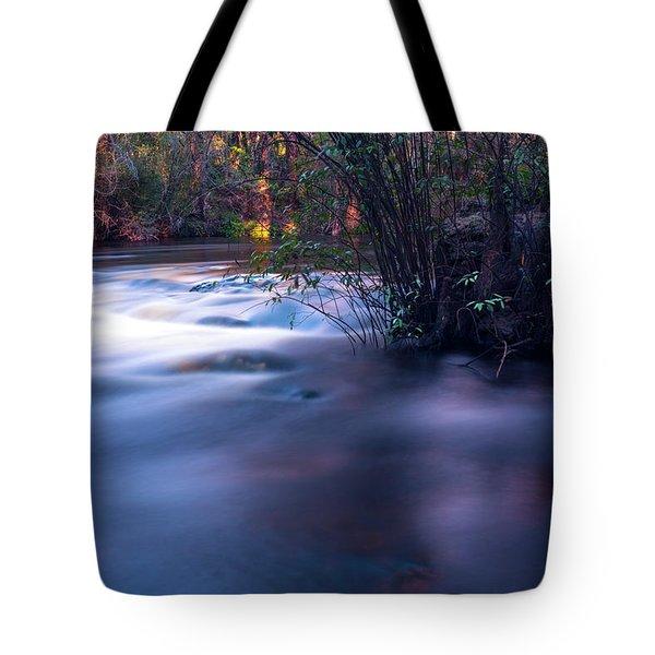 Up Stream Tote Bag
