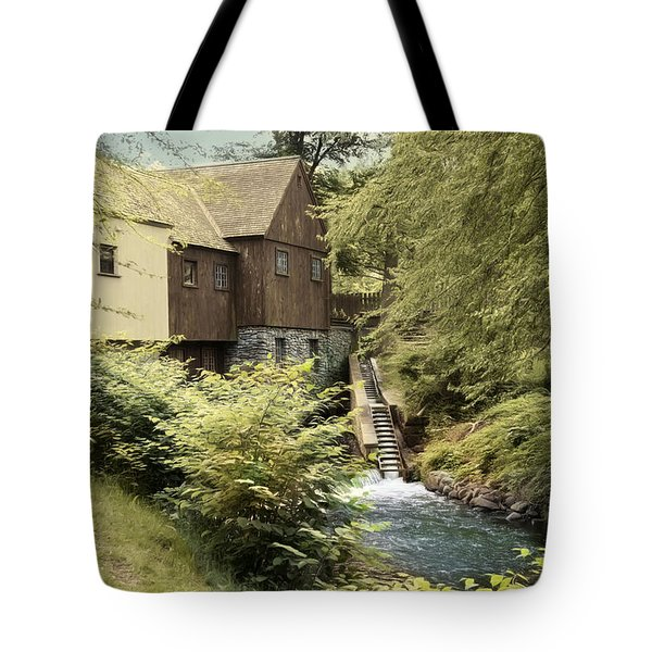 Tote Bag featuring the photograph Up Stream by Robin-Lee Vieira