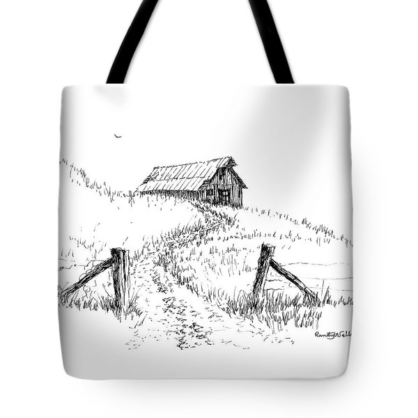 Up The Hill To The Old Barn Tote Bag