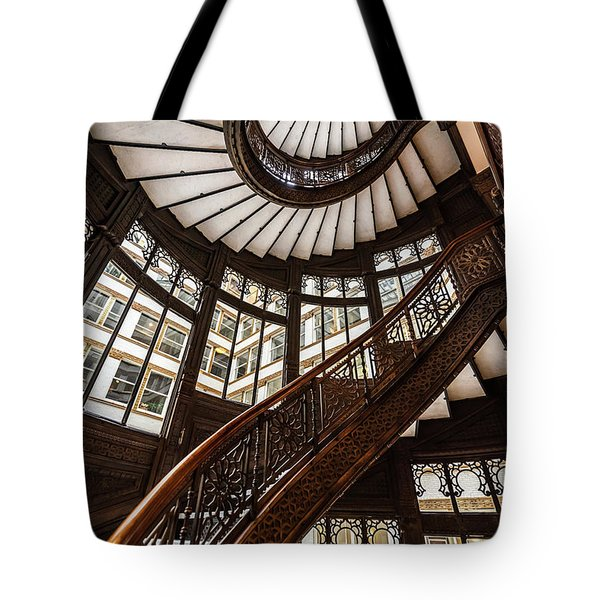 Up The Iconic Rookery Building Staircase Tote Bag