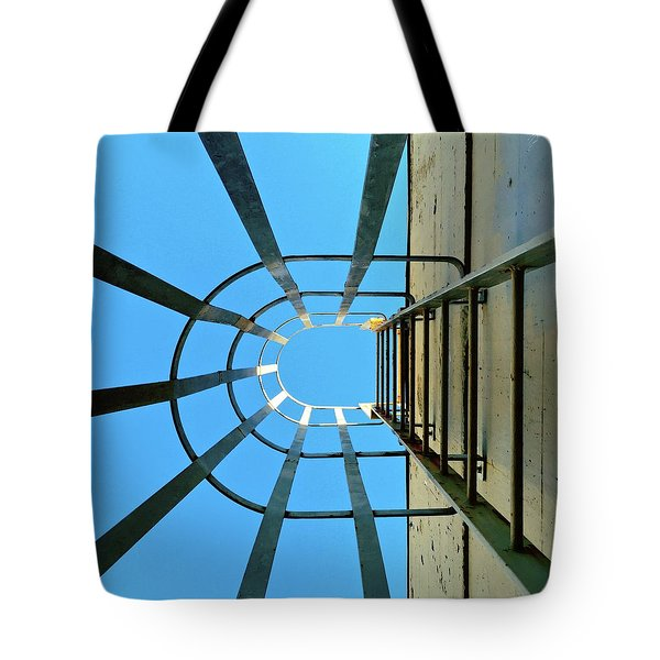 Up The Ladder  Tote Bag by Julie Gebhardt