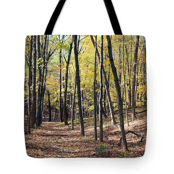 Up The Woodland Trail Tote Bag