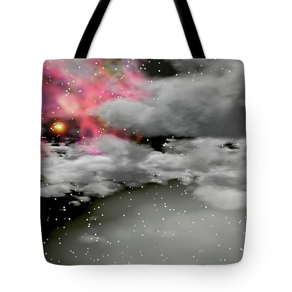 Up Through The Clouds Tote Bag by Michele Wilson