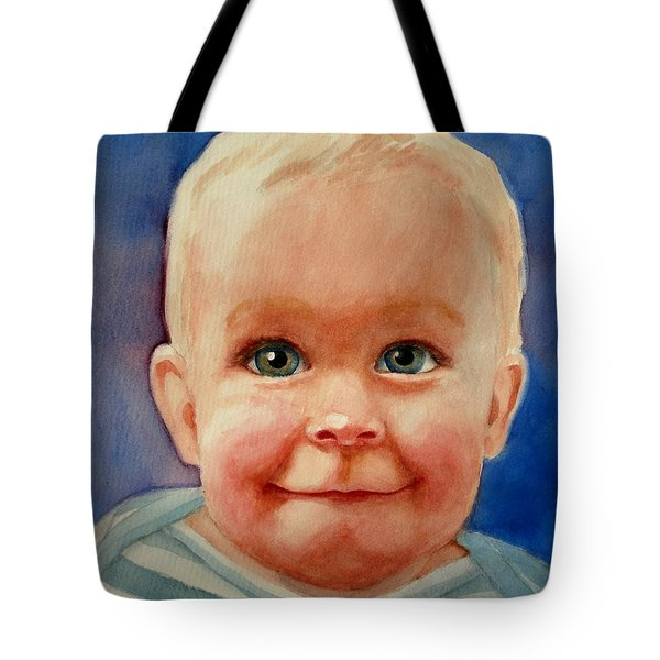 Up To Something Tote Bag by Marilyn Jacobson