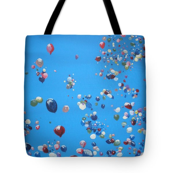 Up Up And Away Tote Bag by Betty-Anne McDonald
